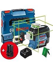 Bosch Professional 12V System linjelaser GLL 3-80 CG (2x batterier 12V, laddare. grön laser, med appfunktion, fäste, arbetsområde: upp till 30m, i L-BOXX) – Amazon Exclusive