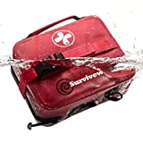 Surviveware Waterproof First Aid Kit for Kayak, Boating, Backpacking, Snow and Watersports