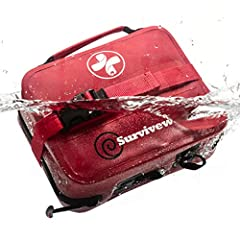"A REAL WATERPROOF KIT! Unlike other kits that find dumb ways to claim they are ""waterproof"", Surviveware has gone above and beyond to make a next level first aid kit. This kit has welded seams as opposed to stitching and glue. The kit also comes with..."