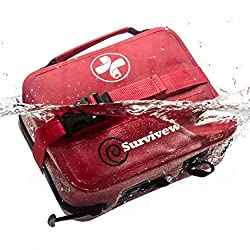 Surviveware Waterproof First Aid Kit for Kayak, Boating, Backpacking,...