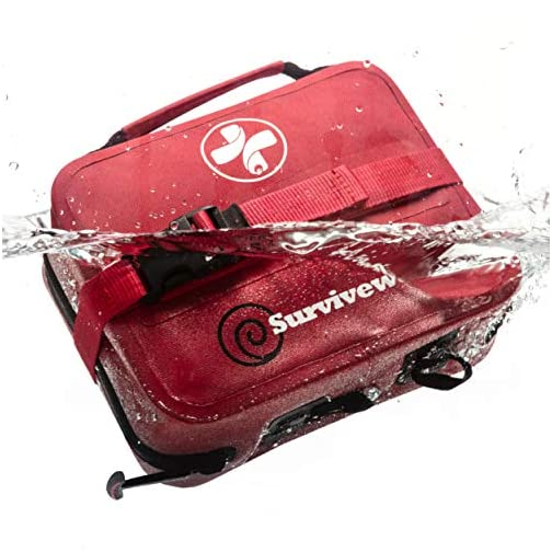 Surviveware Waterproof First Aid Kit for Kayak, Boating, Backpacking, Snow and Watersports 3
