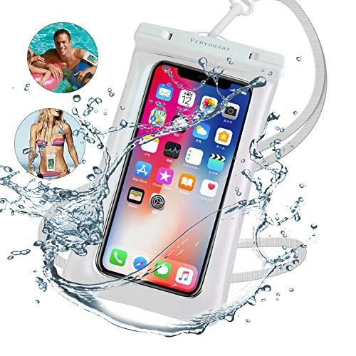 強化版携帯防水ケーススマホ防水ケースタッチ可【指紋・顔認証】IPX8防水防塵水中撮影・通話可TPU超耐用材料海・登山・プール・温泉・潜水お風呂など対応可iPhone&Android全機種対応ホワイト