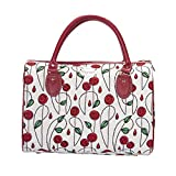 Signare Tapestry Duffle Bag Overnight Bags Weekend Bag for Women with Floral Design (Mackintosh Rose, TRAV-RMSP)