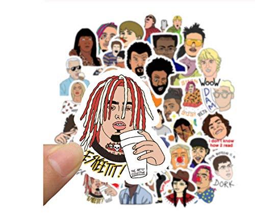 votgl 50 stuks Hip Hop Rapper DJ Graffiti Style sticker op mobiele telefoon bagage laptop koffer gitaar skateboard bike sticker
