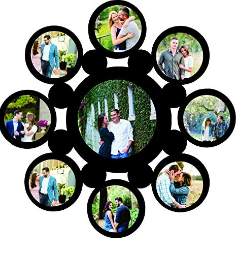 Lvi Craft Family Customized Hanging MDF Photo Frame Your Personalized Photo Frame (15 x 15 inches)