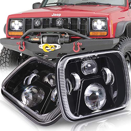7x6' Headlights, SEUYA 5x7 LED Headlights DOT Approved Sealed Beam Headlamps with High Low Beam Replacement for Jeep Wrangler YJ MJ Cherokee XJ H6054 H5054 69822 6053 6052 Pickup Sedans GMC