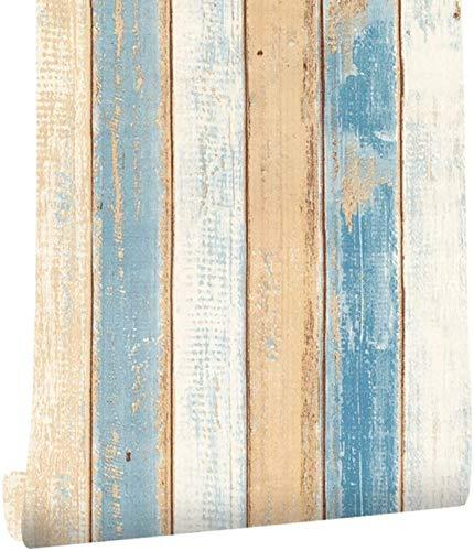 sknonr Selbstklebende Tapete Antike Imitation Holzkorn Tapete Küche Schrank Möbel Kabinett Tisch Tapete Dekoration TV Hintergrund Wanddekoration 0.45x6m (Color : C, Size : 45cm x 6M)