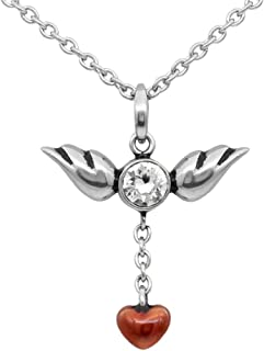 a piece of my heart has wings necklace