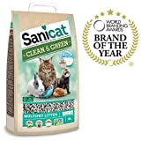 Sanicat Lit hygiénique Clean & Green Cellulose - 10 L