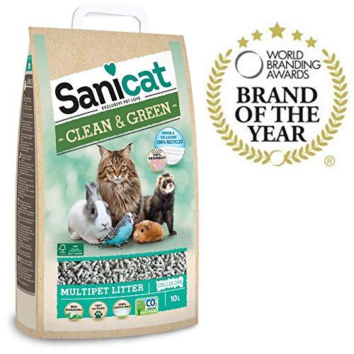 SANICAT Lecho higiénico Clean & Green Celulosa -