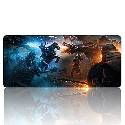 1054258 - Mouse Pad Keyboard Pad Game of Thrones Gaming Large Table Mats (35.4×15.7 in / 90x40 cm) Support Customized,Extended Mouse Mats Non-Slip Spill-Resistant Desk Pads