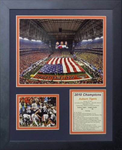 "Legends Never Die ""Auburn University Tigers 2010 Champs Framed Photo Collage, 11 x 14-Inch"