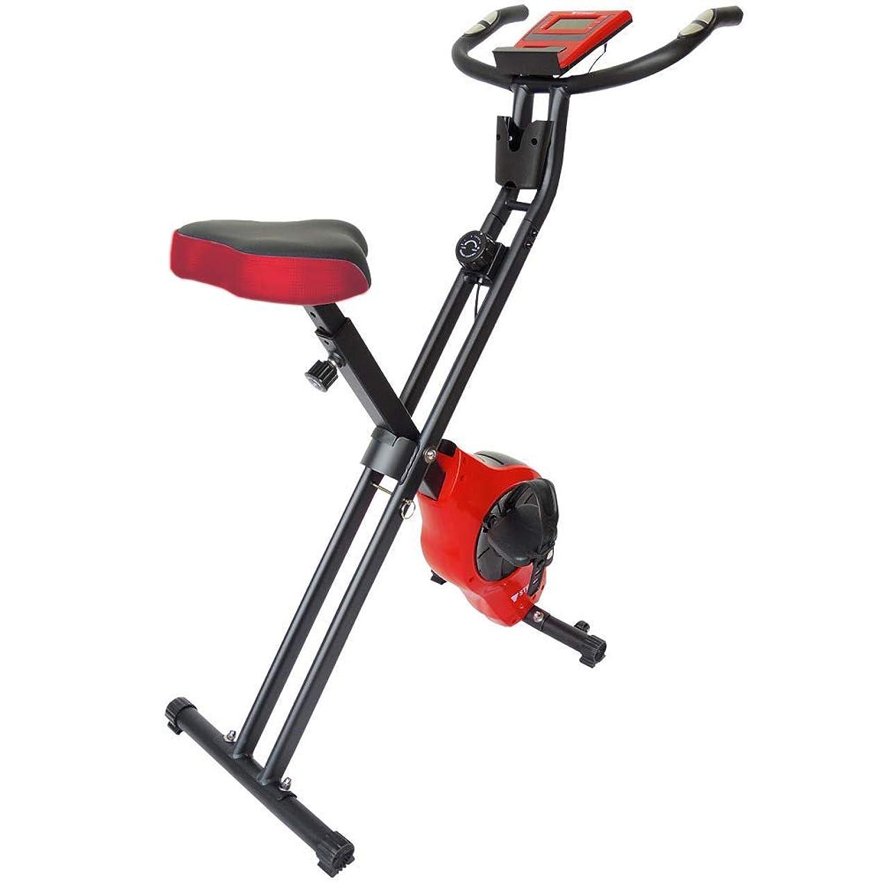 メンテナンス小切手錫STEADY(ステディ) フィットネスバイク 折りたたみ式 小型 クロスバイク 静音マグネット式ベルト 心拍数計測 負荷8段階 電源不要 ST102 [メーカー1年保証] 自転車 トレーニング 有酸素運動 室内運動