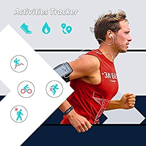 YoYoFit Fitness Tracker with Blood Pressure, Activity Tracker with Heart Rate and Blood Oxygen, Fitness Watch with Sleeping Monitor, Step Counter, Calorie Counter, Pedometer for Women Man Child