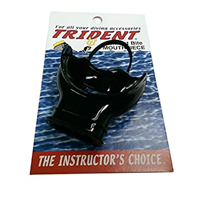 Trident Comfort Bite Mouth Piece with Roof of Mouth Bridge and Rolled Edges (Black)