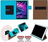Hülle für Medion Lifetab X10313 Tasche Cover Case Bumper | in Braun | Testsieger
