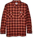 Carhartt Men's Rugged Flex Hamilton Snap Front Plaid Flannel Shirt (Regular and Big & Tall Sizes), Henna, X-Large/Tall