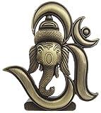 B-Fashionable Antique Om Ganesha Idol (Antique Bronze)