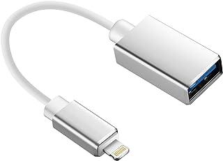 OTG ケーブル iOS13対応 マウス キーボード接続可能 USBA(メス)→Lightning(オス) USB変換 カメラ接続 高速データ転送 アダプタ ライトニング マイク MIDI電子楽器 接続可能 iOSデバイス iPhoneXS/X...