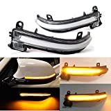 Oritech Turn Signal Indicator Lamp Side Mirror Marker Dynamic Sequential Combo Blink LED Light for BMW 1 2 3 4 Series F20 F21 F22 F30 F31 F32 F33 F34FT F35 F36 E84,White Lens Black