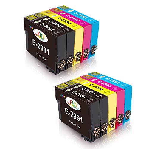EBY 29XL Cartuccia d'inchiostro Compatibile per XP-245 XP-235 XP-247 XP-255 XP-345 XP-332 XP-342 XP352 XP432 XP-442 XP-445 XP-452 XP335(4 Nero, 2 Ciano, 2 Magenta, 2 Giallo)