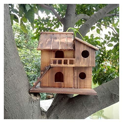 Chenhan Jaula Pájaros Bird House Parakeet Nest Box Decoración al Aire Libre Decoración de Mascotas Bird Caja de Cría Birdhouse para el Lugar de Descanso Externo para Pájaros Ligero Transpirable