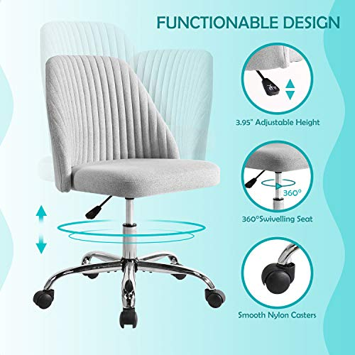 Rimiking Home Office Modern Twill Fabrics Chair
