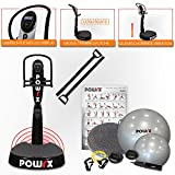POWRX - Plataforma de vibración Active Evolution 2.7, 02285, Negro
