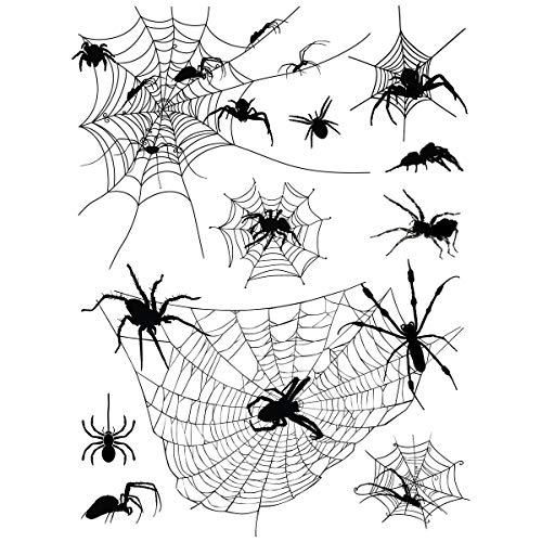 Supperb Temporary Tattoos - Halloween Face Tattoos Horror Cobweb Spider Web Tattoo