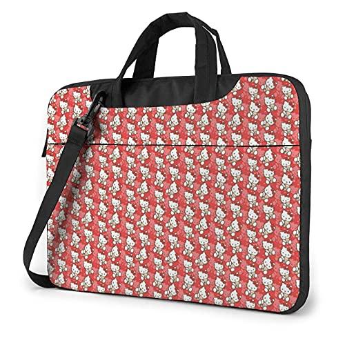 XCNGG Hello K-itty Laptop Bag Tablet Valigetta portatile Custodia protettiva Cover Borse a tracolla 15.6 pollici