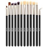 The Fellie 12pcs Eye <span class='highlight'>Brushes</span> Eyeshadow Brush Set Blending <span class='highlight'>Brushes</span> Eyeliner Brush Eye Makeup <span class='highlight'>Brushes</span> Set(Rose Gold)