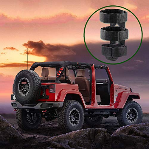 Fire Extinguisher Mount For Roll Bars - Adjustable, Secure, Easy 1 Min. Install with No Tools - For JK JKU JL TJ CJ - Stainless Hardware. Great Wrangler Accessories