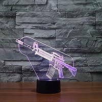 銃スタイルクリエイティブ電子ギフト3DアクリルランプLed 7色タッチ3D常夜灯子供部屋の装飾3D常夜灯