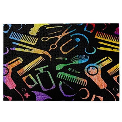 MDFE Peluquería de 1000 piezas para adultos y adolescentes, para actividades de aburrimiento, para el cerebro, regalo de decoración del hogar
