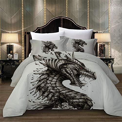 3-Teiliger Bettbezug Mit Reißverschluss Geeignet Für Einzelbett- Und Doppelbettbettwäsche Das Animal-Print-Muster Ist Weich Und Bequem
