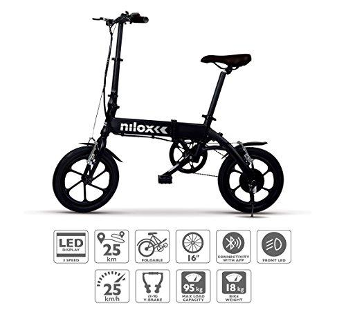 Nilox E-Bike X2 Plus Elektrische fiets, zwart, één maat