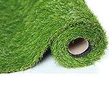 SUMC Kunstrasen Gras/Matte/Wolldecke/Künstlicher Rasen Freien gefälschtes Gras Rasenteppich Schauender im Freien Garten-Rasen für Hunde Haustiere 30mm Stapelhöhe (1m * 4m)