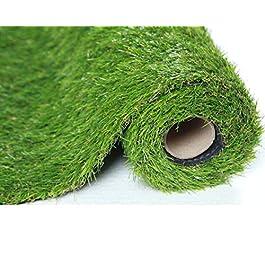SUMC Gazon artificiel Gazon synthétique de gazon de gazon d'herbe de pelouse d'herbe exterieur de balcon d'intérieur de…