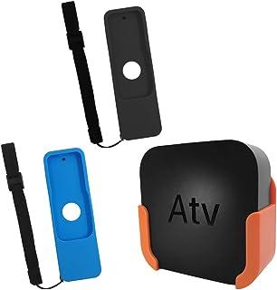 TV Mount for Apple TV 4th and 4K 5th Generation,SourceTon Wall Mount Bracket Holder for Apple TV 4th/4K 5th Gen,Bonus 2 Pr...