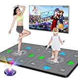 LEO WAY Dance Mat, Dance Pad, HD Wireless Dancing Machine, Somatosensory Game Machine Fitness Body Building Home Use Multi-Function TV Game Blanket Running Dance Rug for Kids and Adults(Gray)