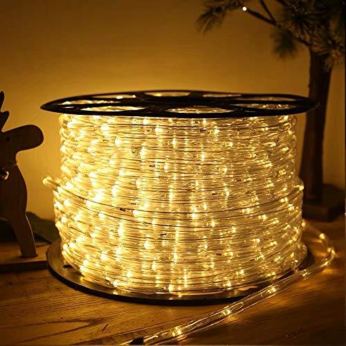 VINGO 40M LED Lichterschlauch, Gelb LED Schlauch mit 8 Modi, 960 LEDs, Wasserdicht Schlauch Außen Lichterkette für Aussen, Innen, Weihnachten, Weihnachtsbaum, Garten, Terrasse
