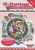 """3D-Stanzbogenbuch""""Weihnachtszeit"""""""
