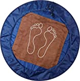 la clessidra Tappeto poggiapiedi MISURE: Ø 63 cm. pratica sacca che funge da base di appoggio per il cambio dopo l'attività sportiva (blu)