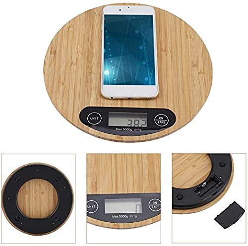 Waterdichte digitale Balance Of LED Kitchen elektronische weegschaal Bamboo Kitchen van hoge precisie een gewicht van 5kg / 1g