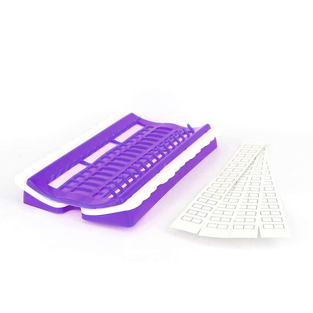 30 Positions Floss Organizer-Plastic Thread Organizers for Cross Stitch-Embroidery Kit Tool for Thread Sewing(Purple)