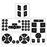 Steering Wheel & Window Switch & Door Lock Switch & Radio Button Stickers for 2008-2014 Mercedes Benz W204 C250 C300 C350 E-Class ML GL GLK