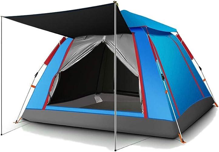 Sisizhang Complètement Ouverture Rapide Ouverture épaissir Camping Famille Ventilation Extérieure Tente Durable Facile à Installer Rapidement