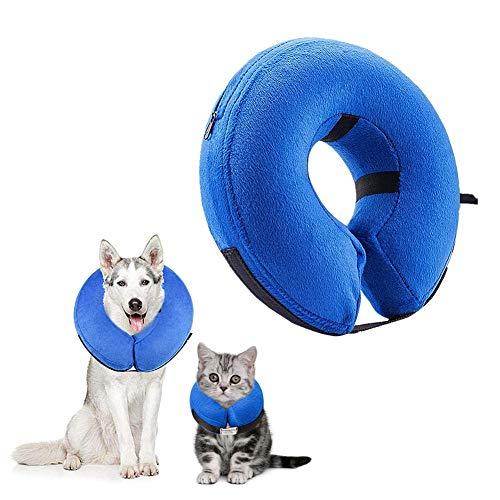 Gofeibao Collar Isabelino Perro Salud Hinchable De Mascota Perro Collares Pet Embudo Cono Cuello Inteligente para Perros Collares de Perro después de morder l-40 * 40cm
