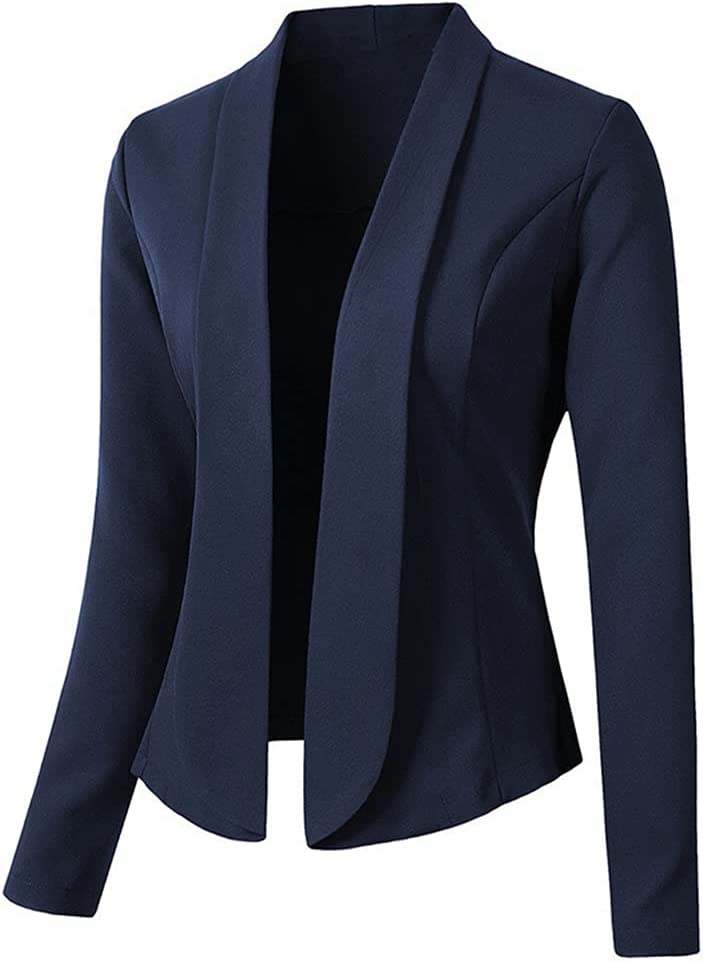 CDQYA Women Blazer Coats Solid Casual Dow Sleeve Elegant Long Suits Turn Limited time sale