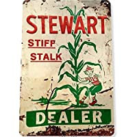 スチュワートディーラー茎トウモロコシ金属サインポスタープラーク壁家の装飾プロンプトカード。-20x30cm